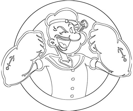 dessins de coloriage popeye  imprimer