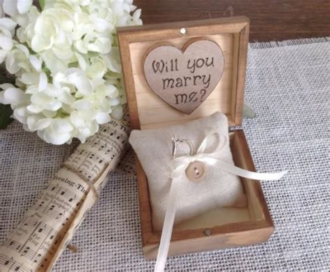 engagement ring box personalized wedding ring box will you me 2246778 weddbook