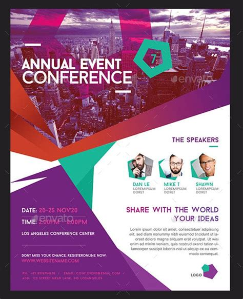 conference flyer designs psd ai indesign