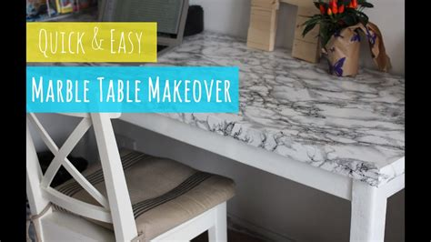 diy marble table quick  easy table makeover youtube
