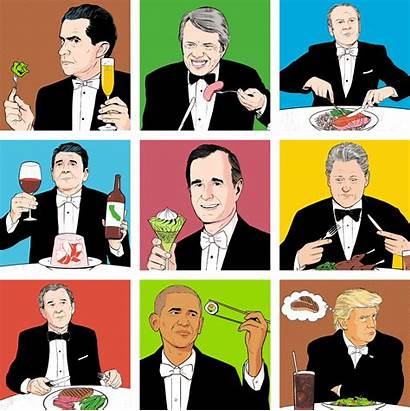 Presidents Meals State Dinners Cartoon Foreign Policy