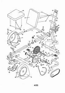 Weslo Model Wlex30480 Cycle Genuine Parts