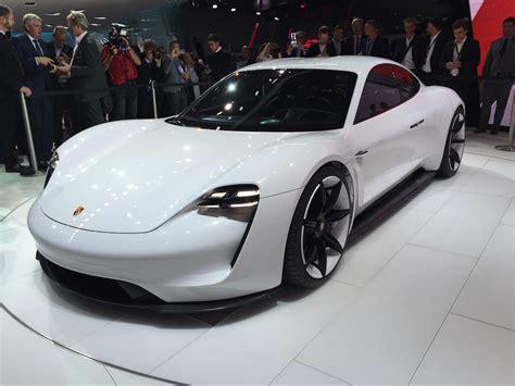 porsche mission  electric sedan concept  mile range