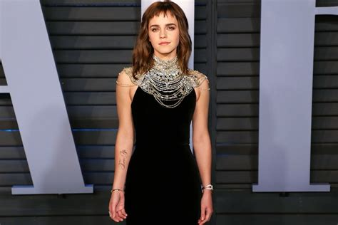 Emma Watson Debuts Temporary Time Tattoo The