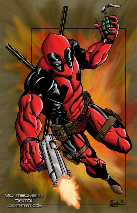 Deadpool Digital Colouring By Montgomerydigital
