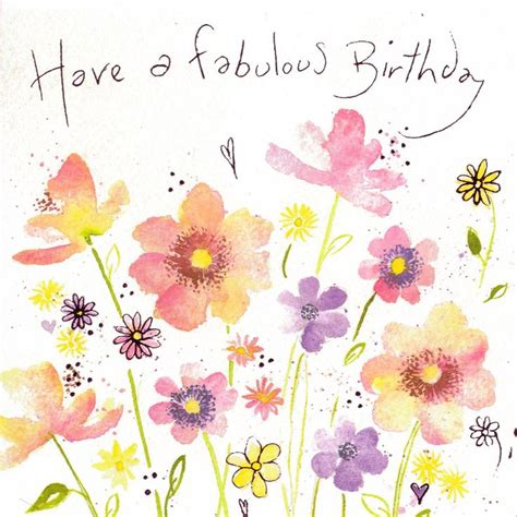 Happy Birthday Friend Clipart Pink Flower Clipart Birthday Flower Pencil And In Color