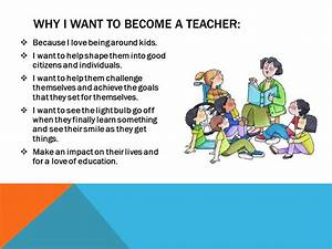 why i want to be a teacher essay sample