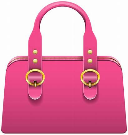 Handbag Clipart Clip Pink Transparent Purse Background