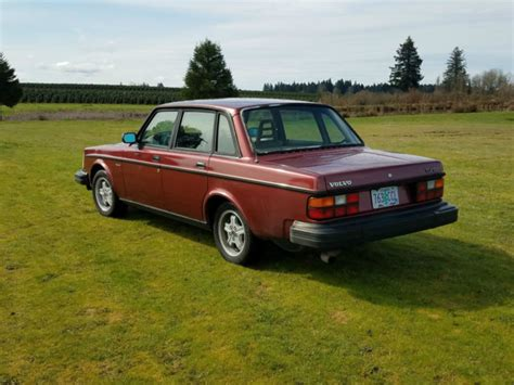 1982 Volvo 244 Turbo Non Intercooled Redwood Red Tan