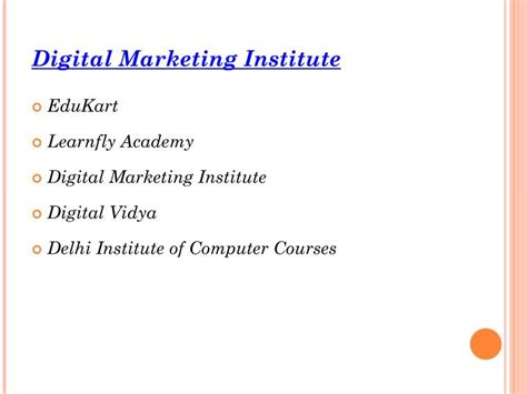 digital marketing in delhi ppt top 5 digital marketing institute in delhi