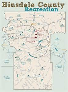 Hinsdale County Colorado Map