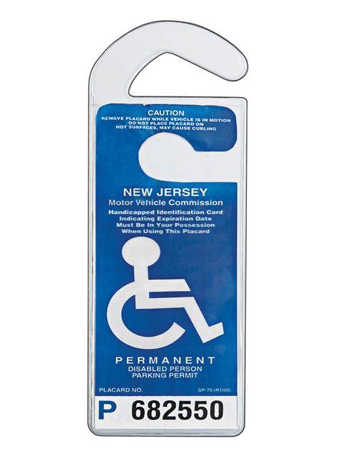 handicap placard holder clear rectangular parking permit