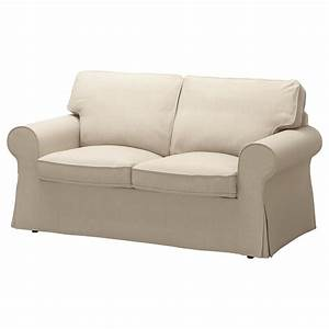 Ektorp two seat sofa nordvalla dark beige ikea for Dark beige sectional sofa