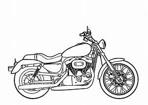 colours drawing wallpaper: Beautiful Motorcycle Coloring ...