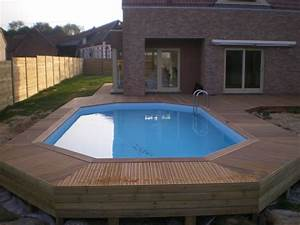 piscine semi enterree bois pas cher vente piscines semi With exceptional terrasse en bois pour piscine hors sol 2 enterrees hors sol semi enterrees des piscines bois