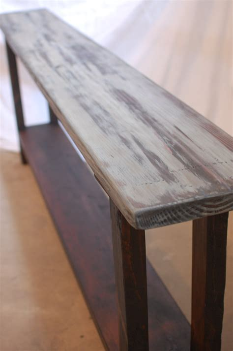 Narrow Sofa Table Diy by And Narrow Diy Console Table Made From Reclaimed Wood
