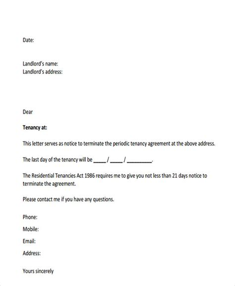 End Of Tenancy Letter Template From Landlord by End Of Tenancy Letter From Tenant To Landlord Uk