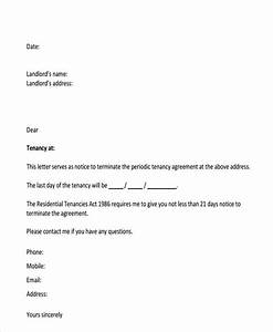 tenant letter templates 9 free sample example format With landlord end of tenancy letter template