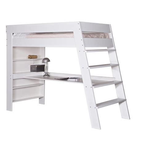 lit mezzanine blanc avec bureau lit mezzanine avec bureau eloïse blanc eloiblcm01n