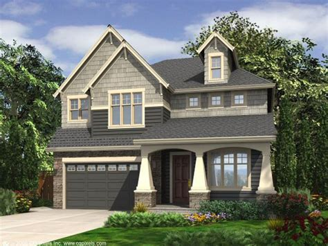 Narrow Lot House Plans Craftsman by Narrow Lot House Plans With Front Garage Narrow Lot House