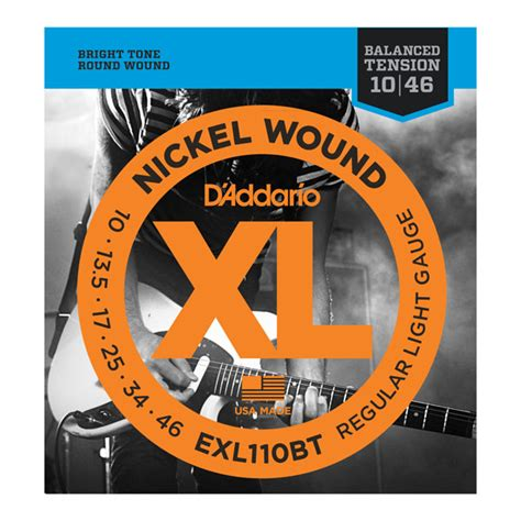 d addario strings xl nickel wound exl110bt