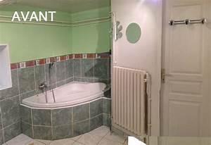 salle de bains gallery of double meuble vasque spar par With carrelage adhesif salle de bain avec led dalle lumineuse
