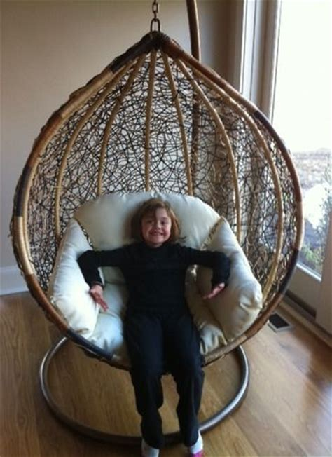 trully outdoor wicker swing chair