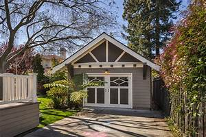 Detached garage shed craftsman with carriage doors