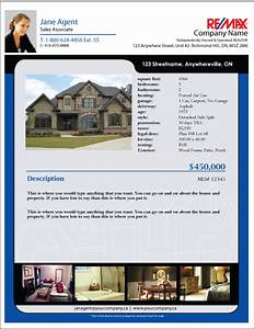 printforlesscanadacom remax listing feature sheet templates With real estate listing sheet template