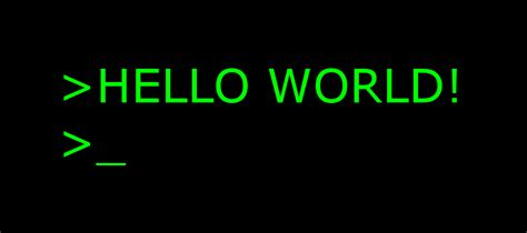 """""""hello World!"""" Examples In Ten Different Languages"""
