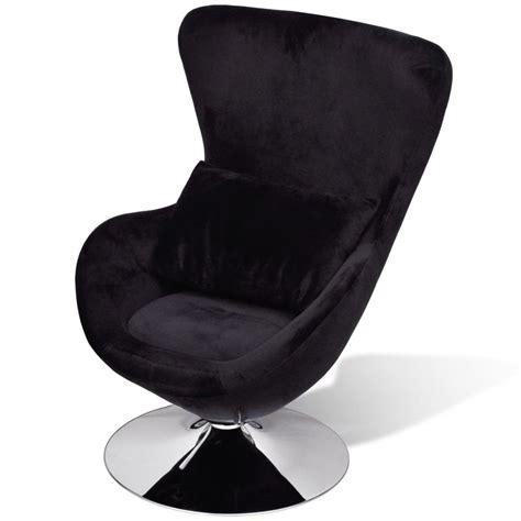 chaise oeuf acheter chaise œuf pivotante avec coussin noir pas cher