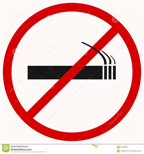 No smoking sign stock vector. Illustration of abstain ...