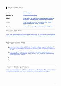 Simple Job Description Template - Edit, Fill, Sign Online ...