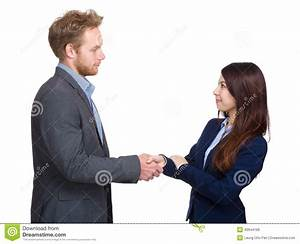 Two Business Person Shaking Hand Stock Photo - Image: 40944186