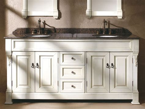 cottage white double sink vanity  shipping