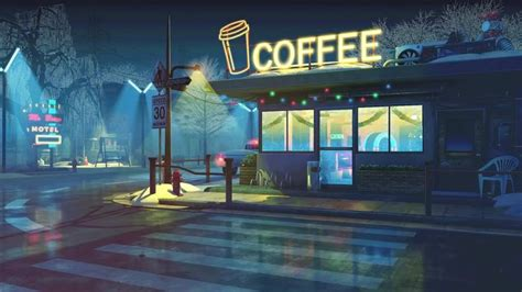 retro coffee shop  wallpaper