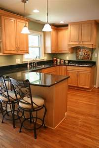 Rustic, Vinyl, Floor, Coloring, That, Goes, With, Golden, Oak, Wood, Kitchen, Cabinets, U2013, Modern, House