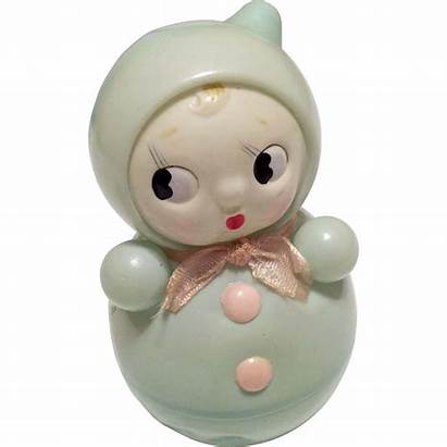 Toy Roly Doll Poly Toys Rattle Googly