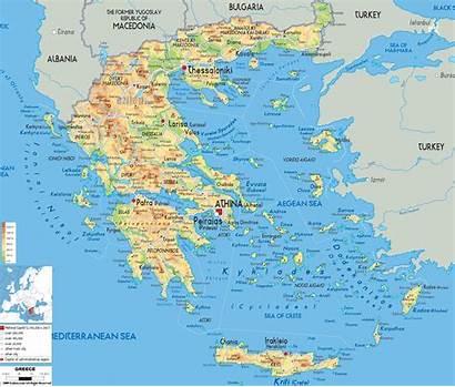 Map Physical Greece Maps Ezilon Europe Greek