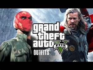 GTA 5 Online - Marvel and DC Outfits (Thor and Red Hood) - YouTube