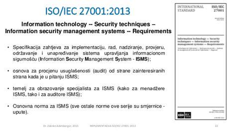 Iso 27001 Version 2013 Resumen by Adelsberger Zdenko Implementacija Iso27001 2013