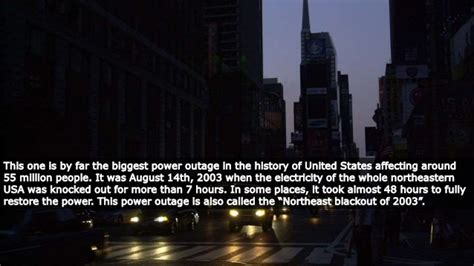biggest power outages   history