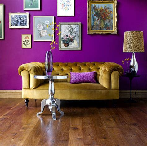 Living Room Colour Ideas Brown Sofa by 23 Inspirational Purple Interior Designs You Must See
