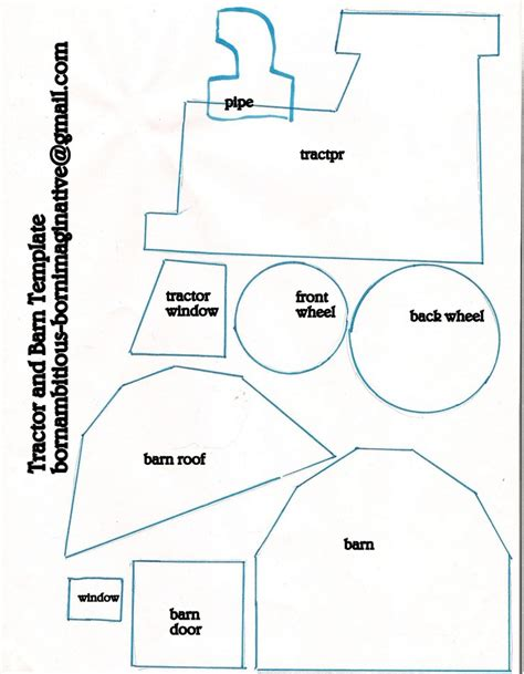 tractor template to print tractor barn template designs for crafts teaching boys ps and farms
