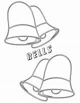 Bell Coloring sketch template