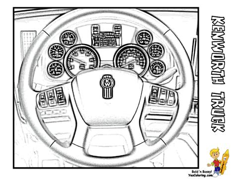 big rig truck coloring pages   wheeler boys coloring pages