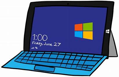 Clipart Laptop Animated Pro Surface Computer Giphy