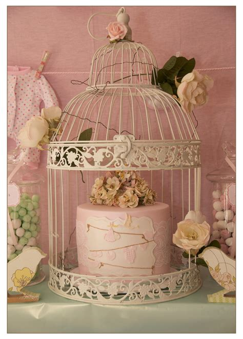 vintage bird themed baby shower   perfect
