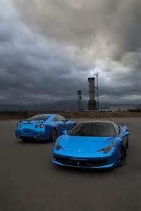 Blue Chrome Nissan Skyline GTR R35