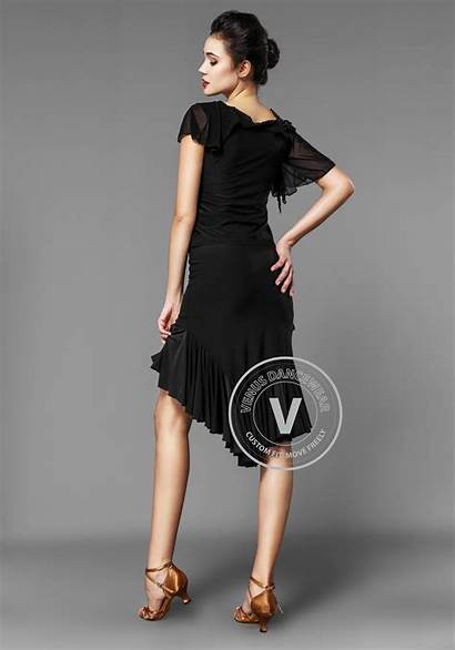 Dance Bare Skirt Latin Applique Shouldered Rhythm